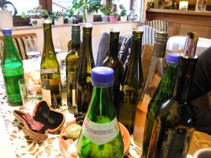 Auch im Weingut.